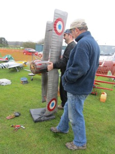Paul Savage's Nieuport 17 under starters orders