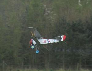 Nieuport 17 puffing smoke
