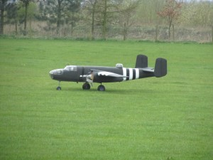 Steve Vodrey's B25 on it's Maiden Flight